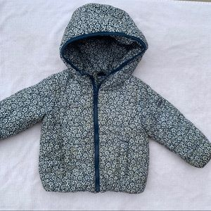 Gap Blue/White Floral Winter Jacket 2T